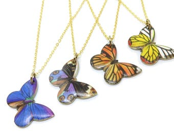 "Butterfly Gold 18"" Necklace - 4 TYPES / YOU CHOOSE"