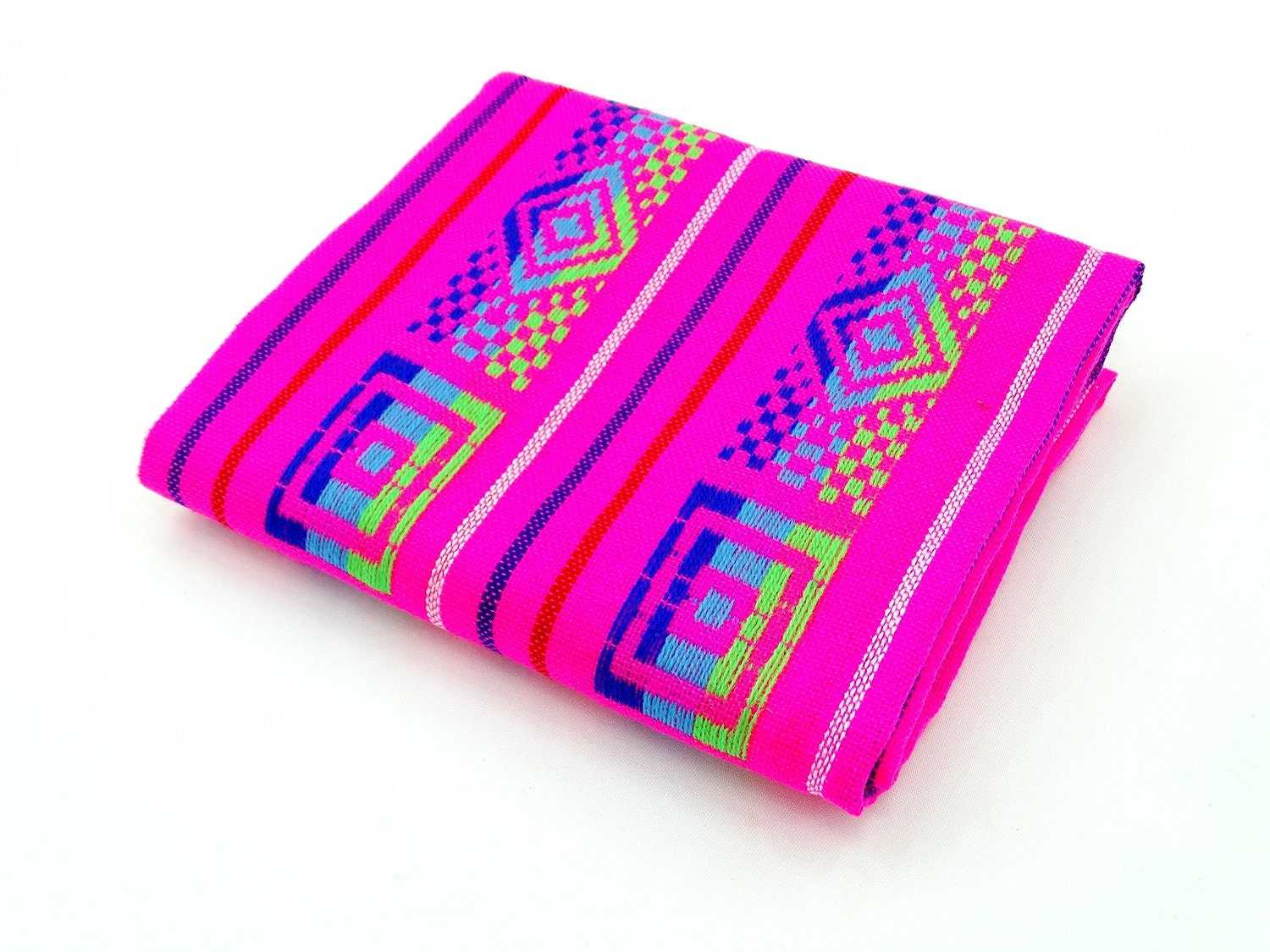 Mexican Fabric Aztec Fabric Tribal Fabric by the yard Pink