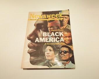 Newsweek Magazine, Vintage Paper, Vintage Magazine, 1969, Black America