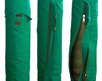 Green Cotton Yoga Bag
