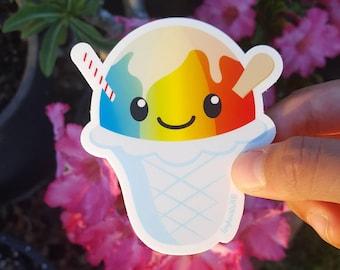 "Hawaii Shave Ice Snow Cone Sticker Cute Kawaii 2.75"" x 3"""