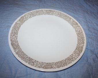 Vintage PLATE Corelle Woodland Brown Floral Dinner Plate