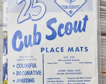 Vintage Cub Scout Place Mats in original package 25 ct