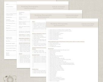 Questionnaires etsy wedding photography questionnaire c200 instant download junglespirit Images