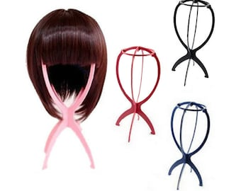 Plastic Wig Stand Portable for Lace Front Wig Hat Cap Crown Wigs Display Styling DIY Tool Displaying Showing Professional Stable Durable