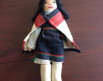 Vintage Native American Handmade Doll