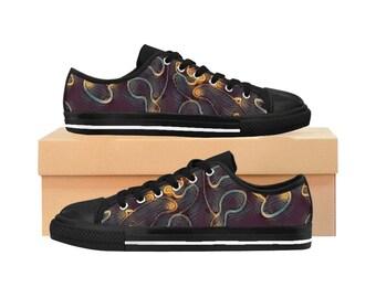 Camouflage Sneakers Purple Bronze