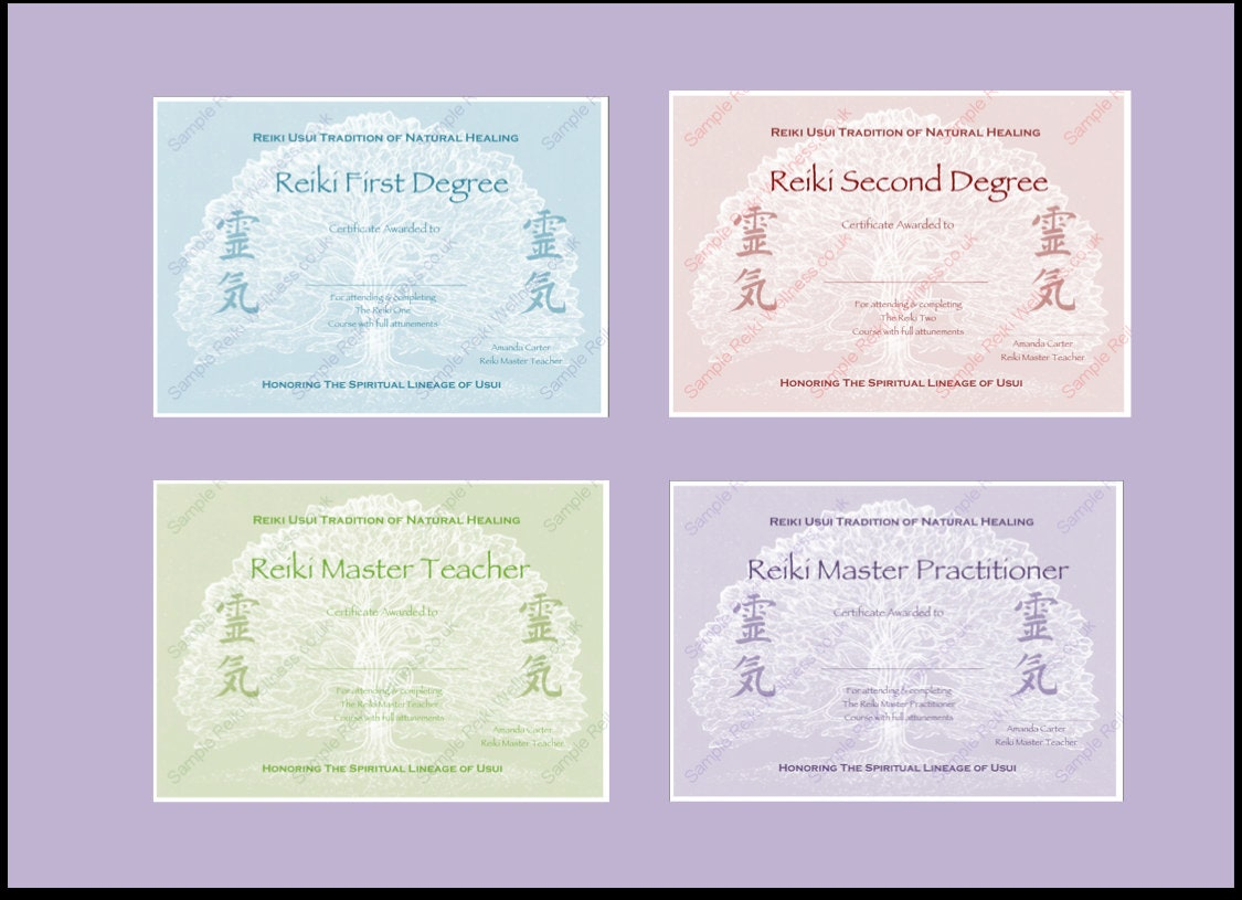Download complete set reiki certificate templates x4 zoom xflitez Images