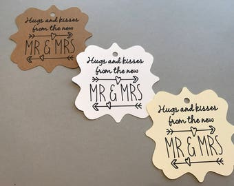 Hugs and Kisses from Mr. and Mrs. - Wedding Favor Tags - Hugs and Kisses Favor Tags - Mr. & Mrs. Favor Tags - Wedding Decor - Custom Wedding
