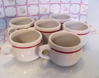 Syracuse China Mug/Cup Short Style Vintage Restaurant Ware / Set of 6