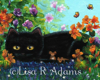 Cat Note Cards from Original Painting Creationarts