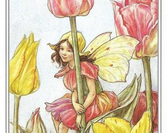 The Tulip Fairy Cicely Mary Barker Flower Fairies Vintage Print 1995 Wall Art Nursery Decor Fairy Print Home Decor Print Fine Art