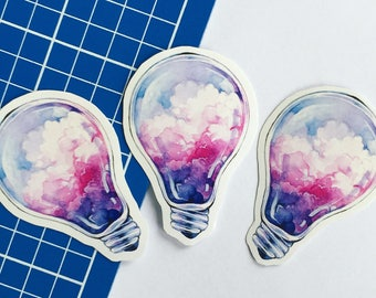 Cloud light bulb sticker