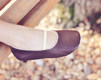 Baby Girl Shoes Toddler Girl Shoes Soft Soled Shoes Wedding Shoes Easter Shoes Flower Girl Shoes Brown Plain Soft Leather Shoes- Solene