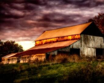 Missouri Barn. Photographic print 8x10, 11x14