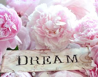 Peony Prints, Peony Photographs, Baby Girl Nursery Decor, Shabby Chic Decor, Pink Peony Wall Art, Dreamy Pink Peony Prints, Peony Flowers