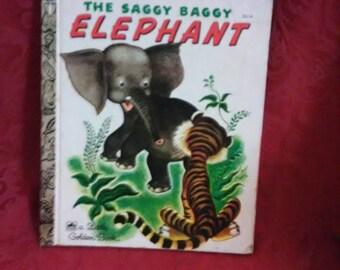 Vintage. A little golden book. The saggy baggy elephant