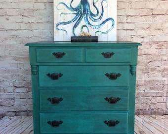 SOLD SOLD ** Hand painted Vintage Dresser