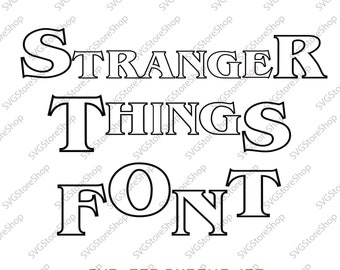 Stranger things font svg, capital lettets,  to create your own logo,Stranger Things, logo font, typeface, SVG, PNG, DXF,