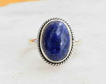 Lapis Lazuli Ring, Lapis Lazuli Ring, Silver Ring,Sterling Silver Ring