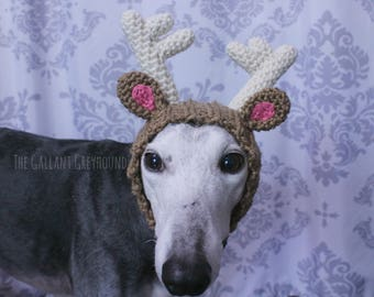 Reindeer Antlers Snood for Greyhounds (Important info in description!)
