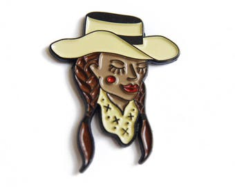 Should've Been A Cowgirl Enamel Pin