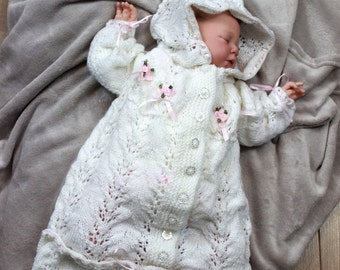 KNITTING PATTERN For Baby Sleeping Bag Knitting Pattern in 2 Sizes PDF 151 Digital Download