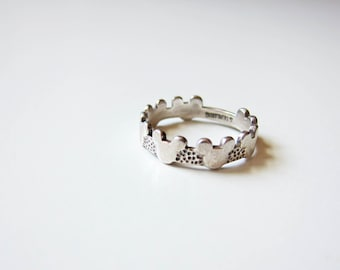 1990s vintage sterling silver mickey mouse head silhouette ring 6.5