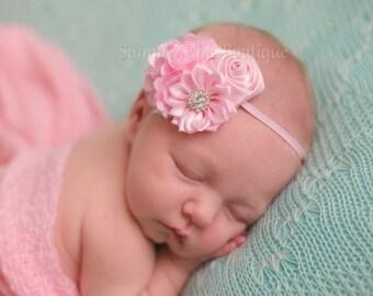 Light Pink Baby Headband, Infant Headband, Newborn Headband, Headband, Light Pink Headband, Pink Baby Headband