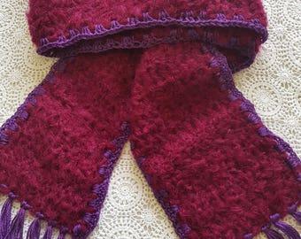 Long Fluffy Crochet Scarf