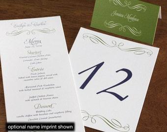 Evelyn Menu, Table Marker & Place Card Set