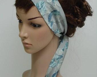 Headband, tie back headscarf, self tie head scarf, hair wrap, hair scarf, satin head scarf, head wrap, 120 x 7cm