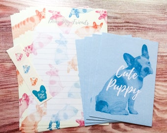 Cute Puppy Letter Set - Japanese Stationery