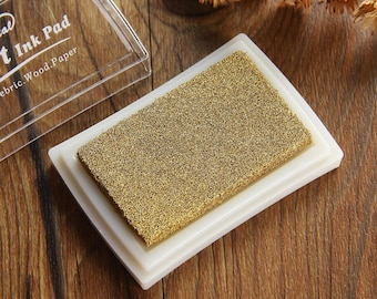 Craft Ink Pad - Waterproof Stamp Inkpad - Stamp Pad for Paper, Fabric, Wood - Gold