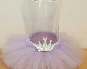 VASE TUTU Princess Party Decoration Centerpiece Crown Birthday Wedding Lavender  Baby Shower Bridal Wine Bottle 16