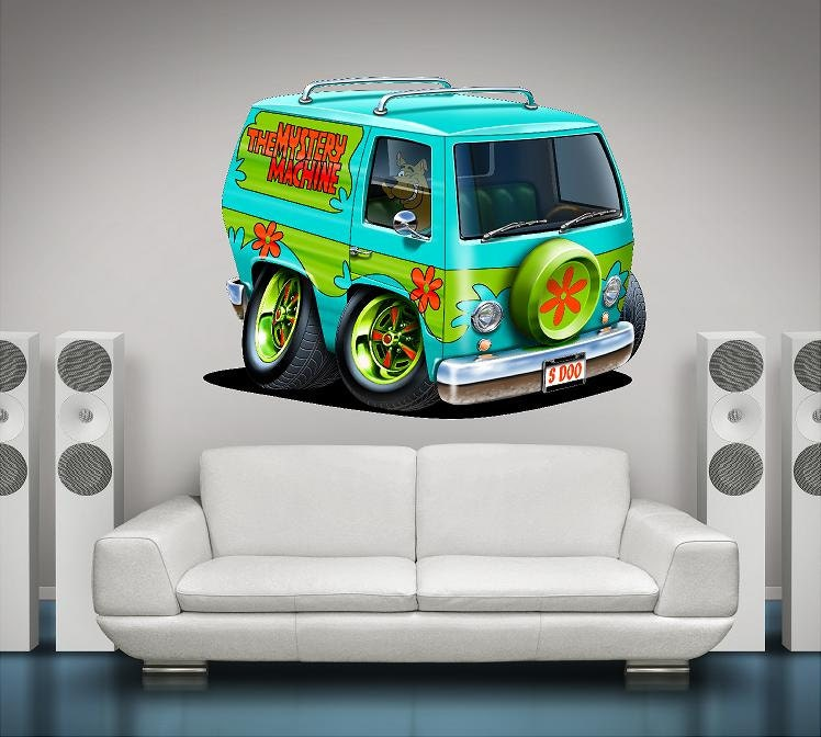 Scooby Doo Wall Graphic Mystery Machine Cartoon Car Classic