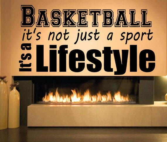 Basketball Wall Quote Decal byRoomDecalsAndDesigns