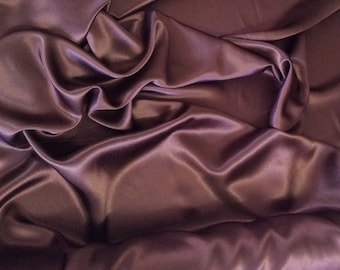 High quality silky sateen, very close to genuine silk sateen. Brown Chocolate No55