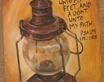 Custom 16x20 Bible Verse Painting from your Favorite Photo Reference.