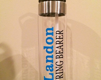 Personalized Water Bottle for Ring Bearer