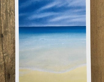 Stormy Saadiyat - a greetings card from an original oil painting by Claire Sims-Craddock