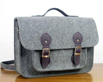 MEN'S MESSENGER BAG - MacBook Pro 15-inch Bag - Messenger Bag - 15-inch Laptop Bag - Felt Cross Body Bag - Custom Size  Laptop Bag