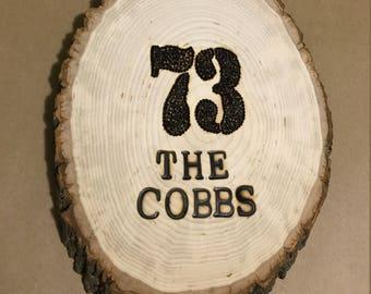 Custom Wood burning Sign