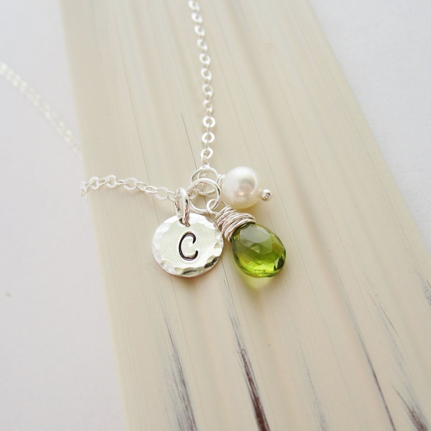 genuine w peridot necklace products silver ring august birthstone sterling