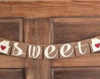 Home Sweet Home Banner, Housewarming Party Banner