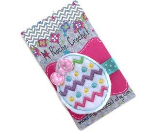 Easter egg hair clip, baby hair clip, Easter felt clip, egg hair clip, toddler hair clip, hair accessory, baby accessory, hair clippies