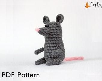 Crochet mouse pattern, amigurumi pattern, DIY, crochet tutorial, crochet animals, PDF pattern, crochet toy pattern