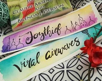 Custom Hand Painted Watercolor Bookmark