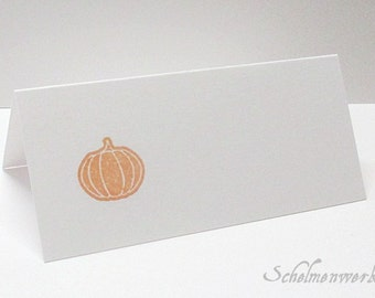 Table card with stamped pumpkin (6 pcs)