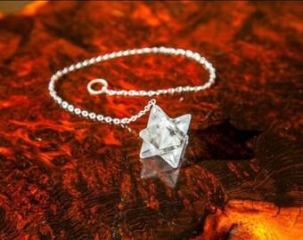 Crystal Merkaba Pendulum/ Merkaba Pendulum/ Merkaba Crystal/ Quartz Merkaba